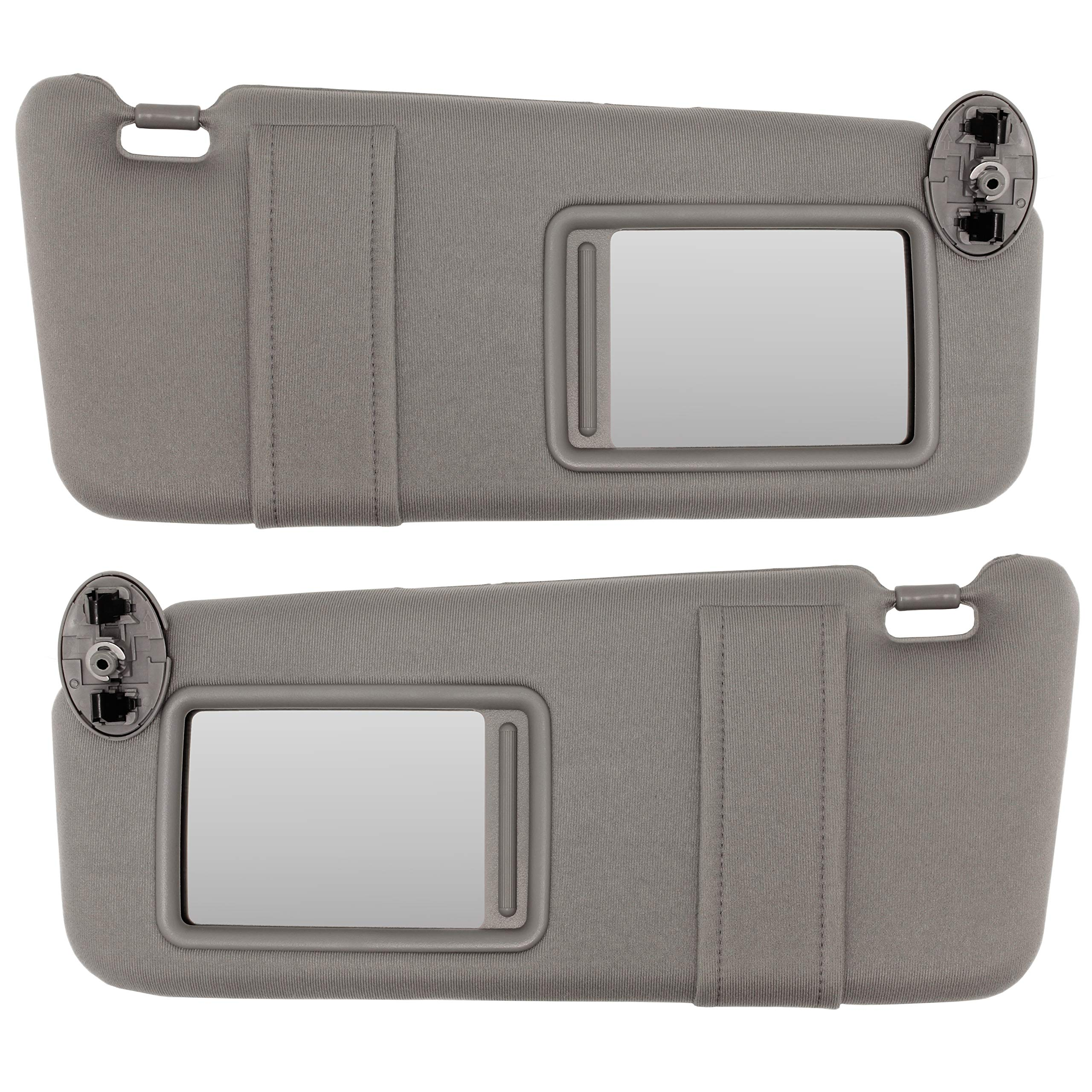 IAMAUTO 22825 New Gray Sun Visor Pair Left & Right for 2007-2011 Toyota Camry Without Sunroof or Vanity Light (Set of Driver and Passenger Side Visors)