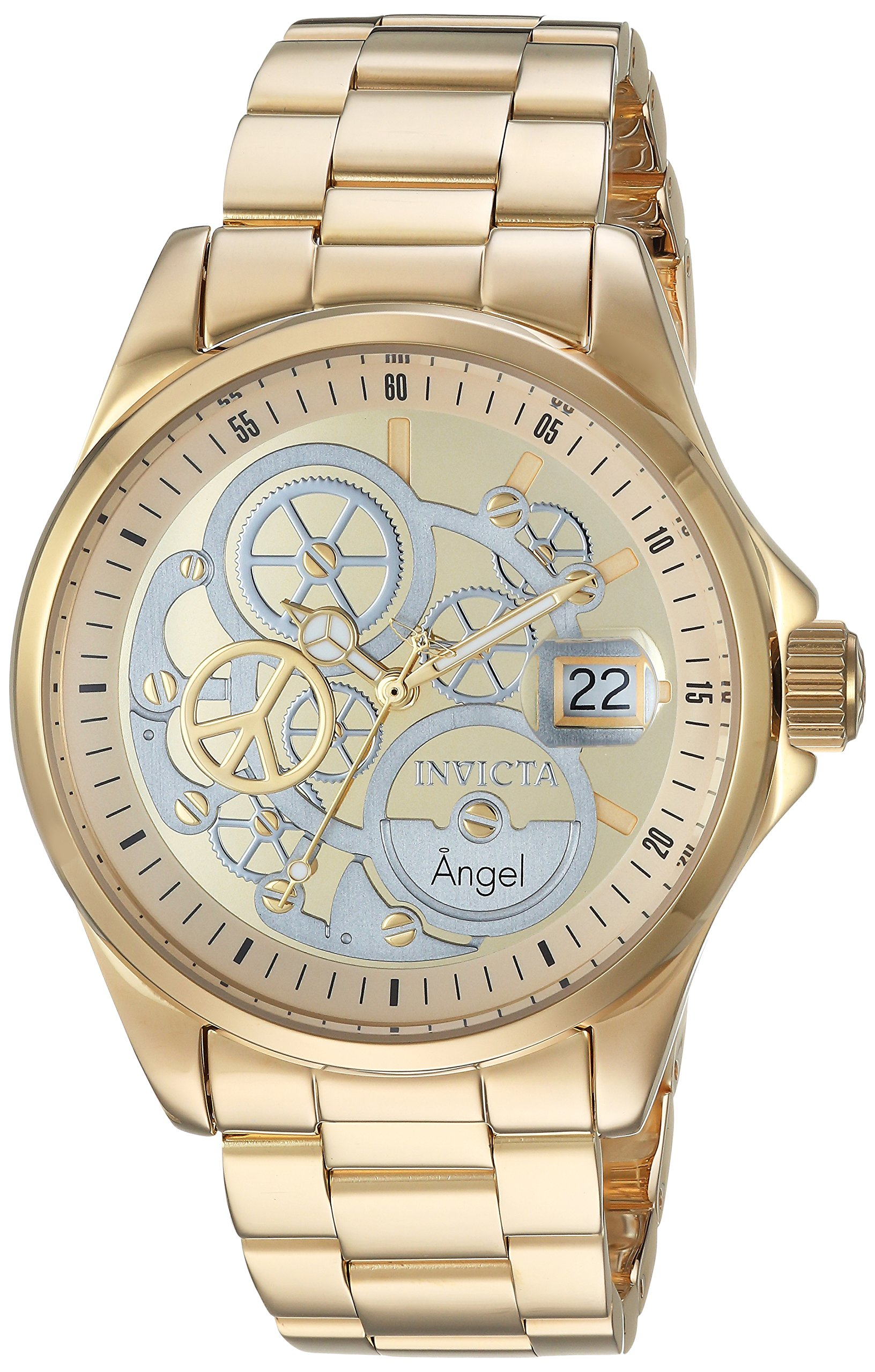 ویکالا · خرید  اصل اورجینال · خرید از آمازون · Invicta Women's Angel Quartz Watch with Stainless-Steel Strap, Gold, 9 (Model: 23568) wekala · ویکالا