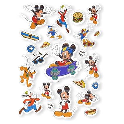 Mickey And Minnie Mouse Stickers.Mickey Mouse Jumbo Stickers Extra Large Raised Mickey Mouse Stickers