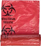 "Medical Action Infectious Waste Bag, Red, 3 Gallon, 14.5"" x 19"", 20/Roll"