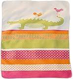David Fussenegger manta para bebé Juwel cocodrilo y pájaros Coral Rosa Naranja, 70x 90cm