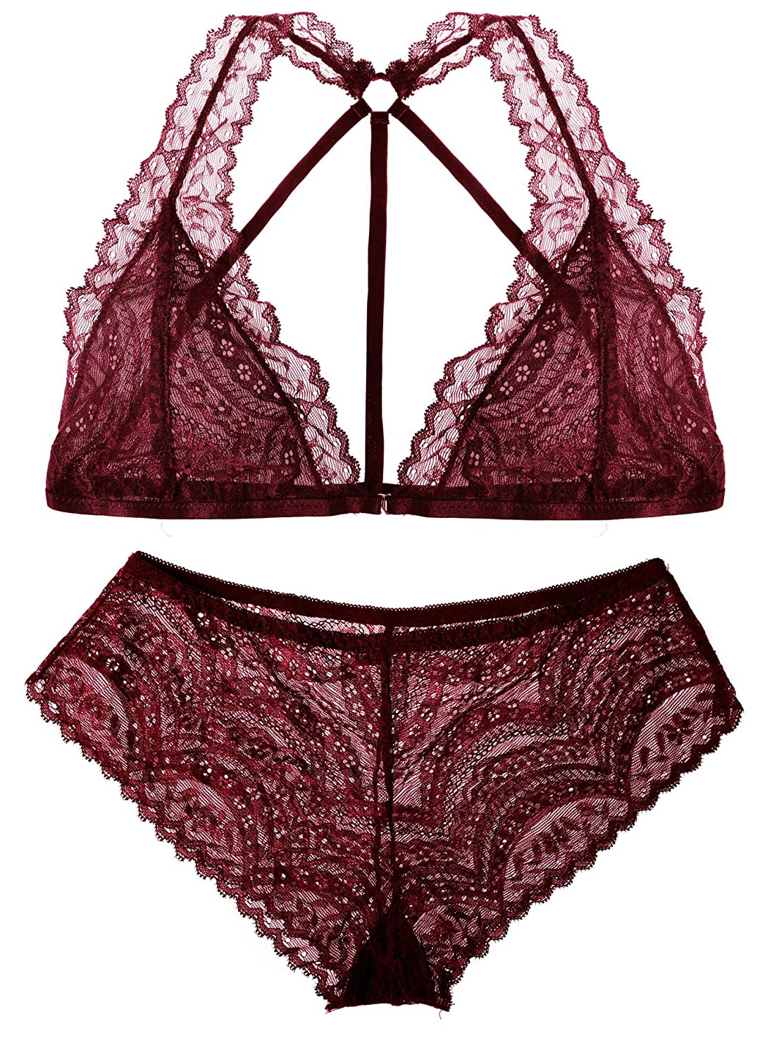 The victory of cupid Womens Lace Bra and Panty Set