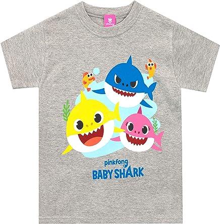 Pinkfong Camiseta de Manga Corta para niños Baby Shark: Amazon.es: Ropa y accesorios