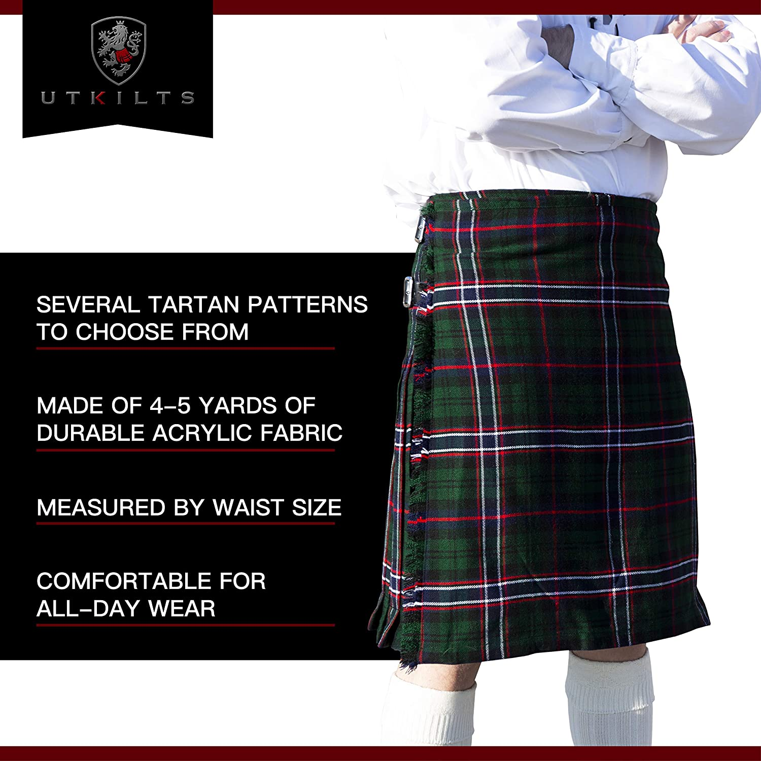 BRAND NEW with FREE carry case All Sizes Pride Of Scotland KILT 8 YARD