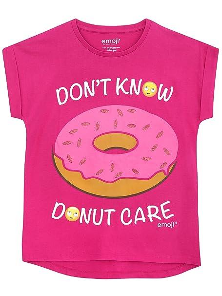 Emoji M/ädchen T-Shirt