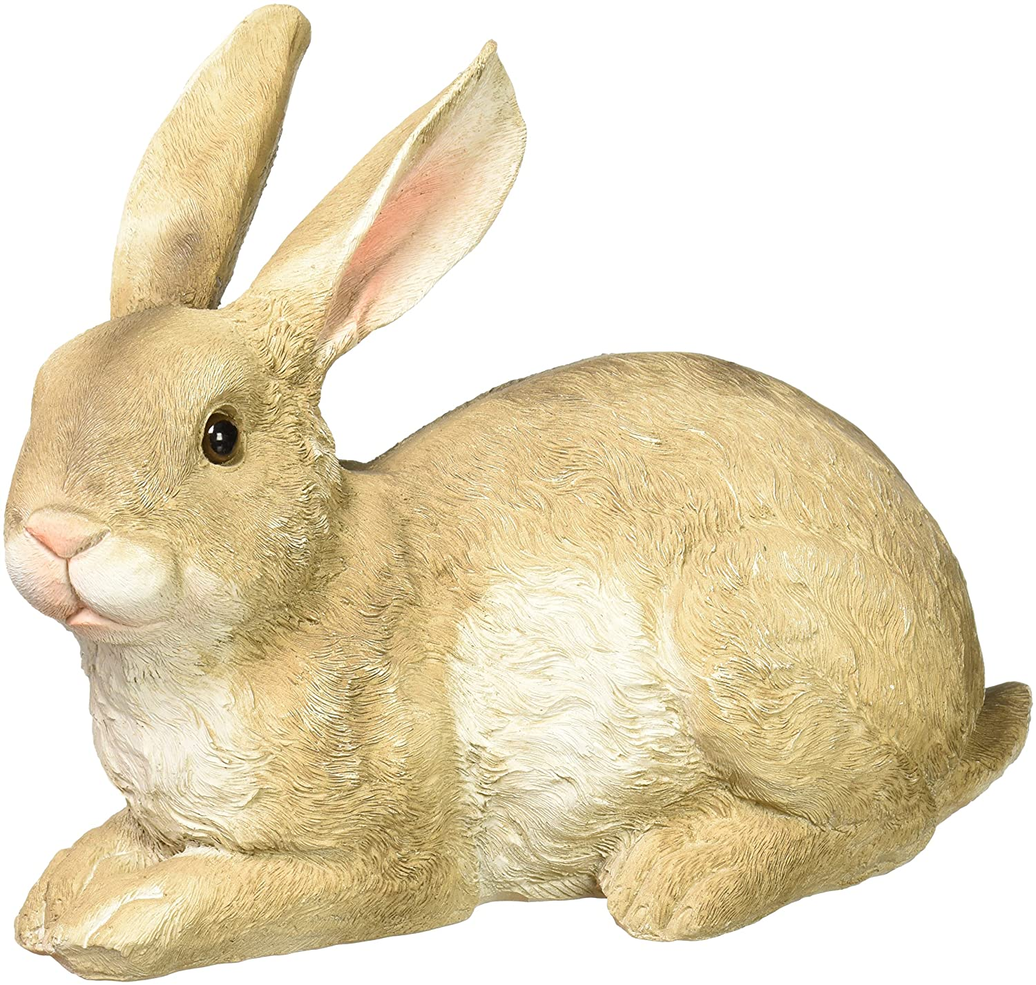 Design Toscano Bashful The Bunny Lying Down Rabbit Outdoor Garden Statue, 10 Inch, Polyresin,