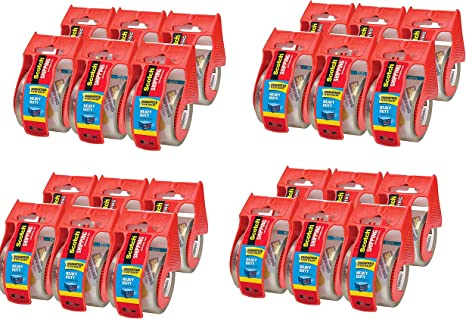 Scotch Heavy Duty Shipping Packaging Tape 6 Rolls Wit 1.88 Inches X 800 Inches