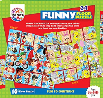Ratnas Funny Floor Puzzle Double Sided 2 in 1