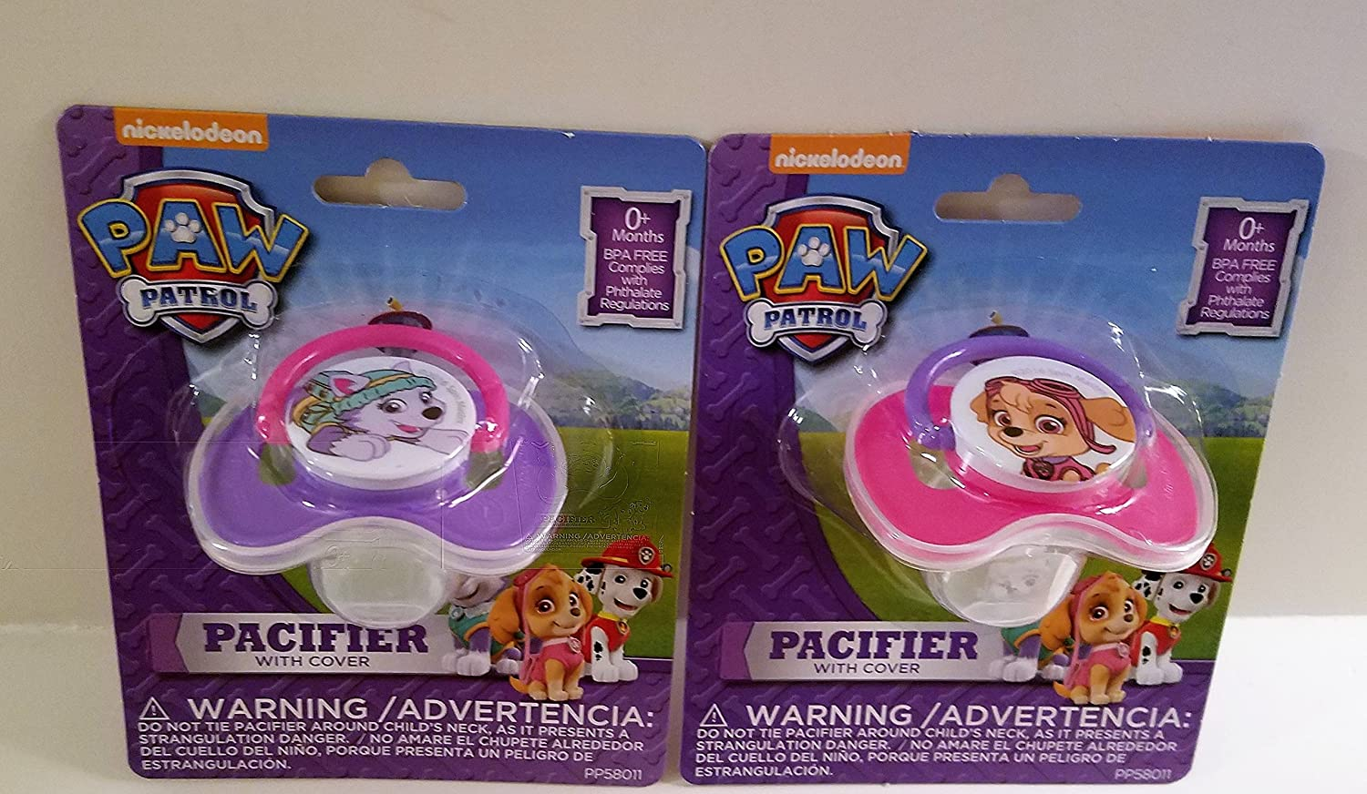 Amazon.com : 2 Paw Patrol Pacifiers with Covers for Girls : Baby
