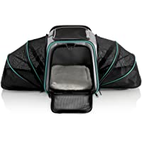 Dual Expandable Pet Carrier with Soft Sided Crate for Small Animals