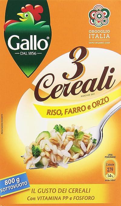 5 opinioni per Gallo- 3 Cereali, Riso, Farro E Orzo- 2 pezzi da 800 g [1600 g]