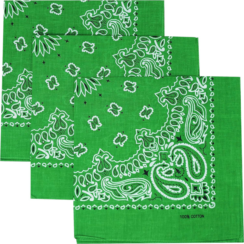 Xeira 3 pi/èces emballage bandana /à motif paisley dans de nombreuses couleurs diff/érentes