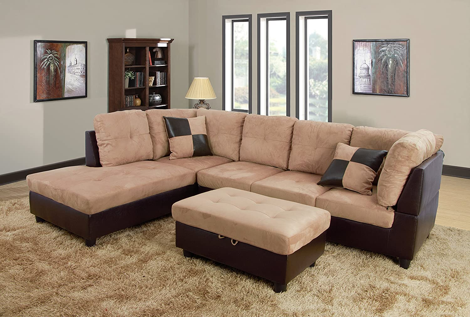 p s beverly modern chaise furniture of sofa set faux white loveseat leather picture blk