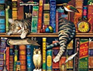 Buffalo Games - The Cats of Charles Wysocki - Frederick The Literate - 750 Piece Jigsaw Puzzle