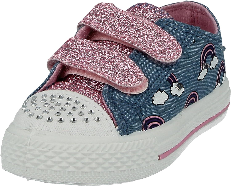 UK 2 Kids Girls Boys Unisex 601400 Canvas Low Top Double Touch Close Straps Trainers Plimsolls Pumps Size Infant 4