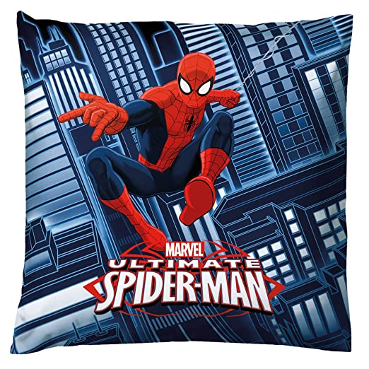Bassetti Spider-Man cojín con Relleno, algodón, Rojo, 40 x ...
