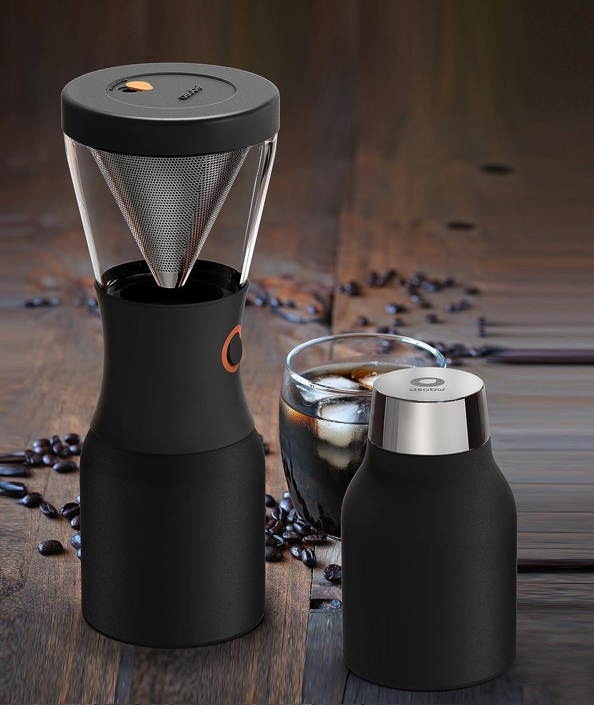 NUOVO asobu Portable isolata freddo Brew CAFFETTIERA IN ACCIAIO INOX-RAME