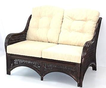 Amazon.com: Sofá de Salón Loveseat Eco mimbre ratán de hecho ...