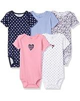 Carter's Baby Girls' 5 Pack Bodysuit (Baby)