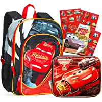 "Disney Cars Backpack with Lunch Box (16"" Backpack with Insulated Lunch Kit)"