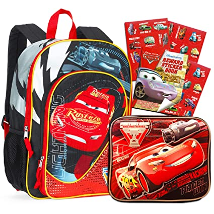 3b3732facc4 Amazon.com  Disney Cars Backpack with Lunch Box (16
