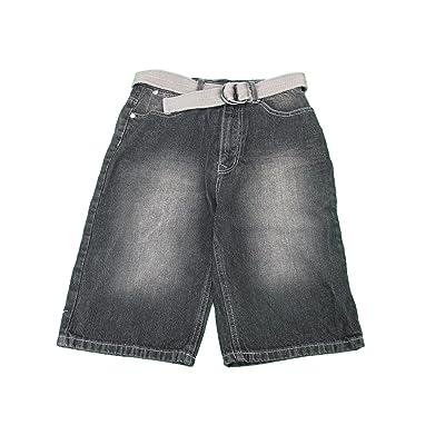 English Laundry Boys Size 12 Long Denim Shorts w/ Belt, Black