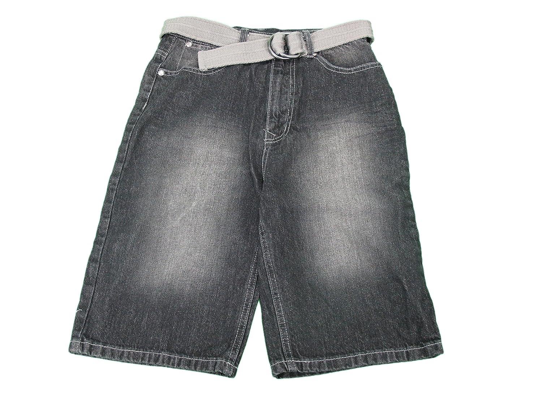 Black English Laundry Boys Size 12 Long Denim Shorts w// Belt