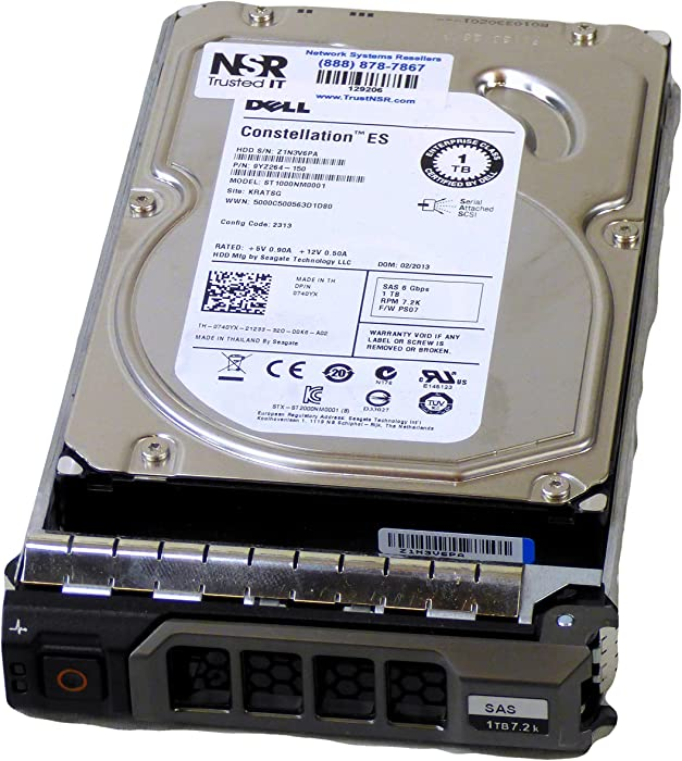 "Dell Compatible 1TB 7.2K 6Gb/s 3.5"" SAS HD -Mfg # 740YX (Comes with Drive and Tray)"