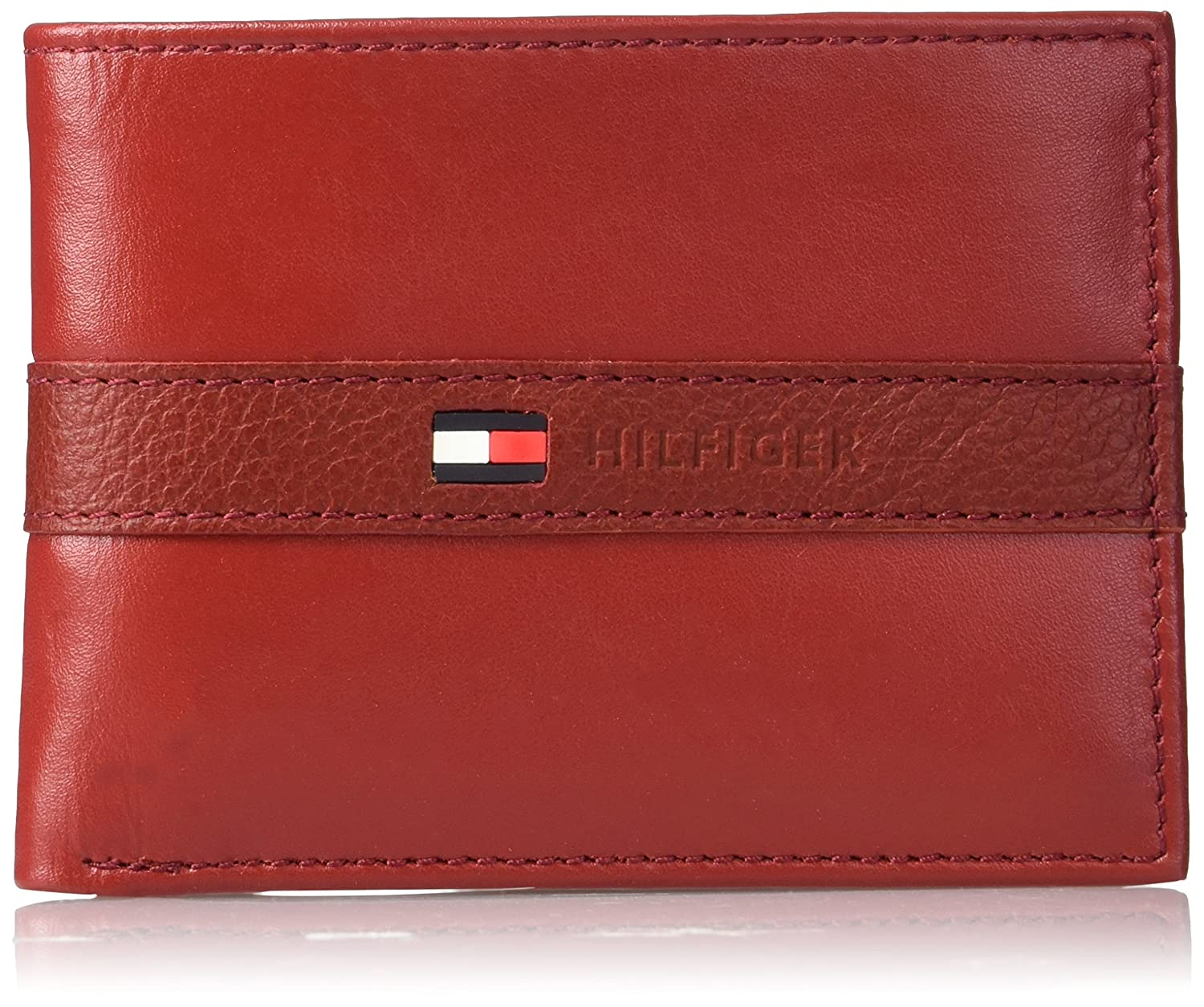 Tommy Hilfiger Men's Ranger Leather Passcase Wallet Black One Size Swank 31TL22X062