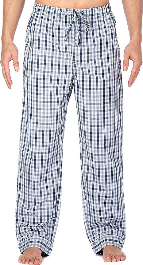 Pantalon Pijama de Bambú para Hombre - Tartán Azul/Blanco ...