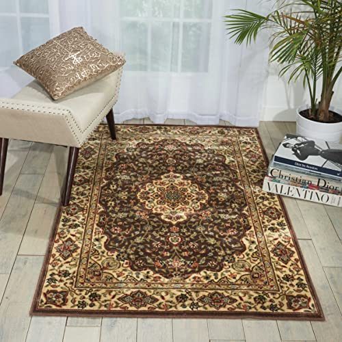 Nourison Persian Arts Chocolate Octagon Area Rug, 7-Feet 9-Inches by 7-Feet 9-Inches 7 9 x 7 9