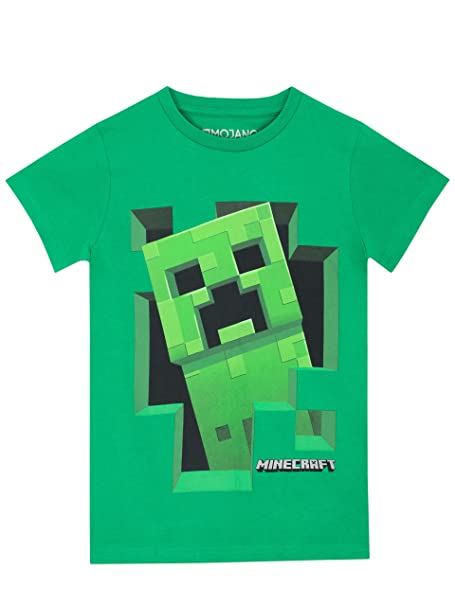 9b907ab02 Amazon.com: Minecraft Boys' Creeper T-Shirt: Clothing