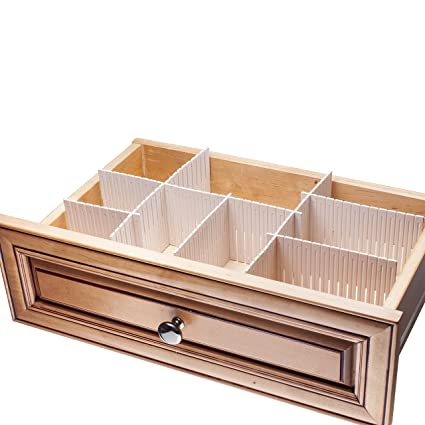 1d1b9dba64094 Sorbus® Customizable Slotted Plastic Interlocking Drawer dividers Organizer  Set