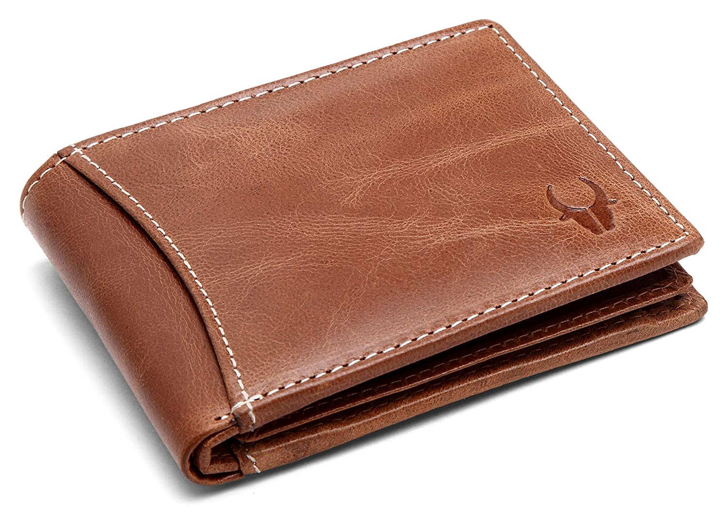 WildHorn Mens Leather Wallet Tan WH1255 CRUNCH