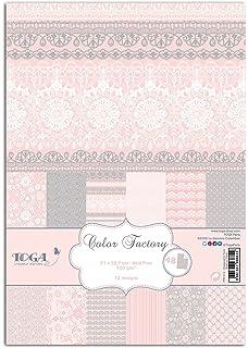 Toga PPK013 - Bloque de 48 Hojas Impresas de Papel, 21 x 29,7