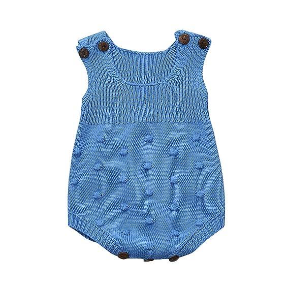 105babc77 Longra Ropa Bebé Unisex Mameluco de Bebé de Otoño e Invierno Ropa de Niños  De Punto: Amazon.es: Ropa y accesorios