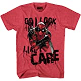 Marvel Deadpool Do I Look I Care Mens T-Shirt