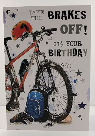 male birthday card jj gr202 mountain bike from the graffix