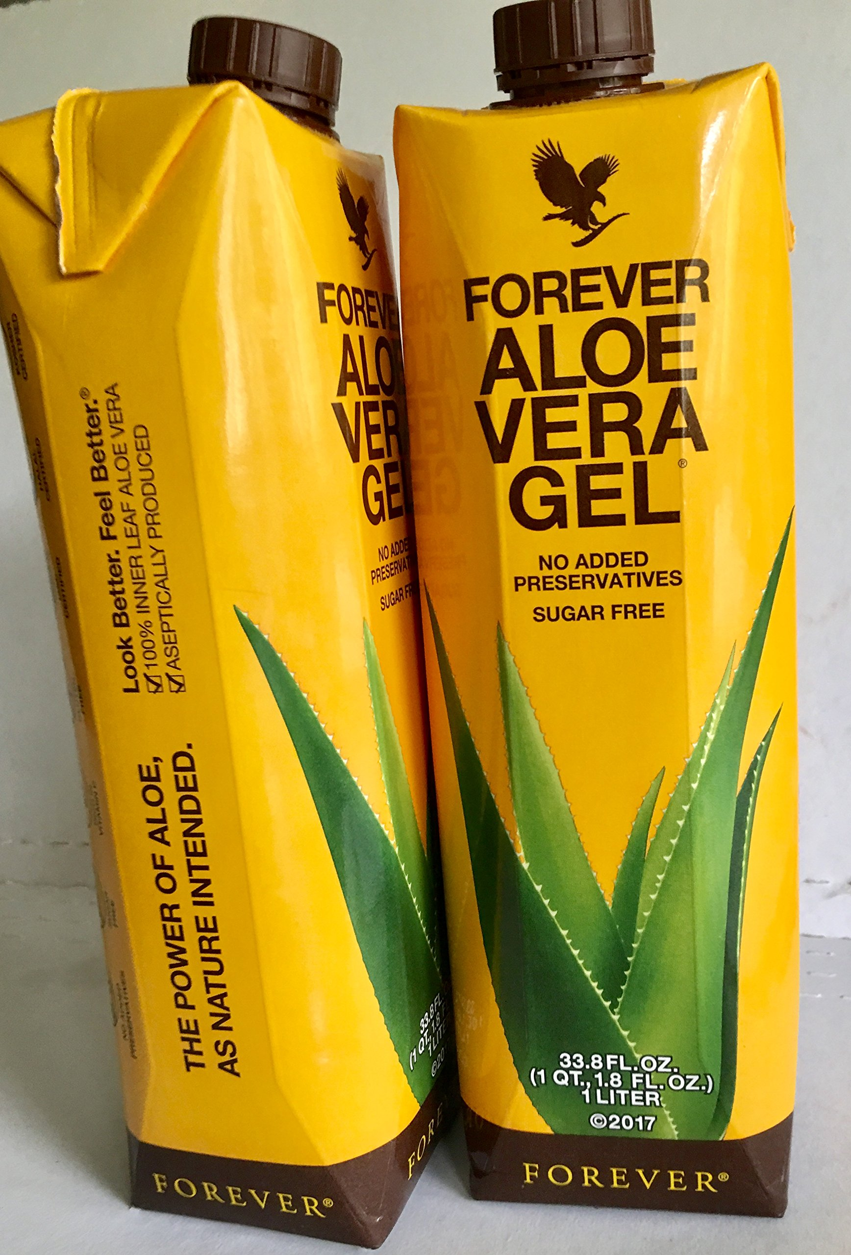 Forever Aloe Vera Gel (New Product. Pack of 2) by Forever Living