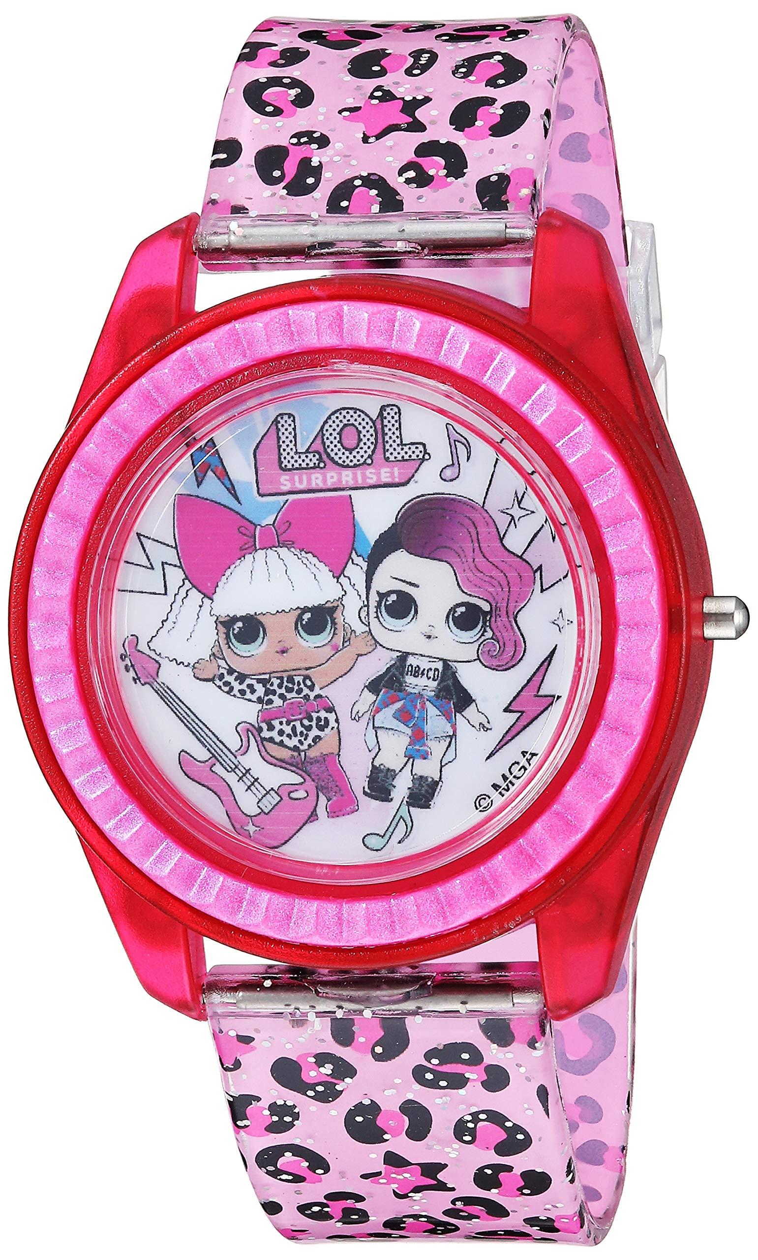 L.O.L. Surprise! Girls' Quartz Watch with Plastic Strap, Pink, 17.6 (Model: LOL4000) by L.O.L. Surprise!
