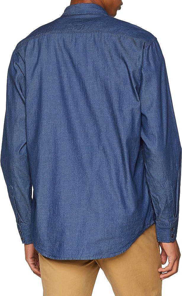 Levis Modern Barstow Western Camisa Vaquera, Azul (Indigo Twill Rinse 0000), Small para Hombre: Amazon.es: Ropa y accesorios