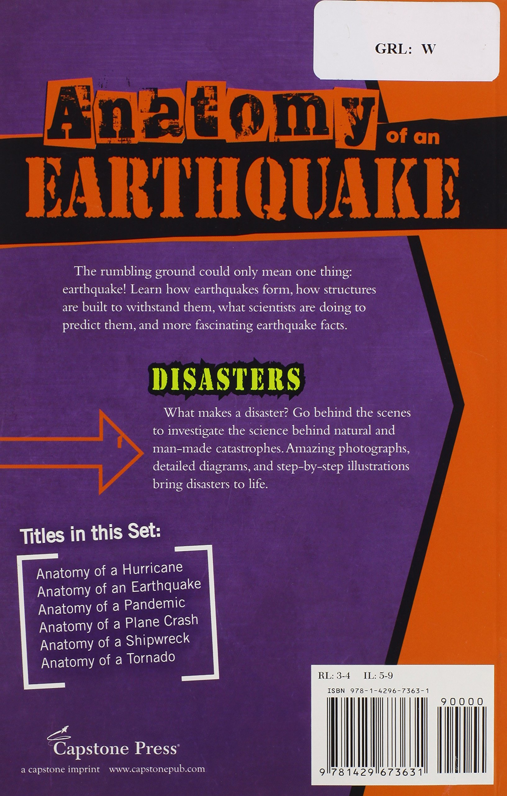 Anatomy Of An Earthquake Disasters Rene C Rebman 9781429673631