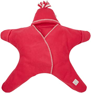 Tuppence and Crumble Star Baby Wrap Red Size Medium