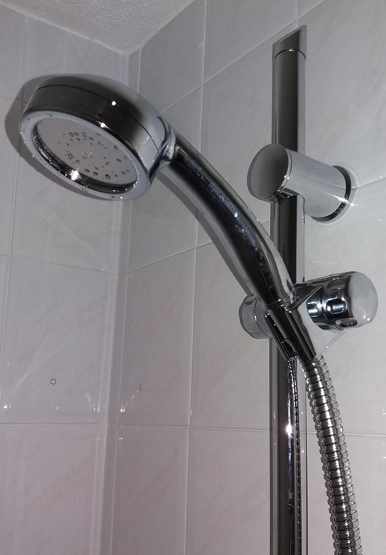 Mampara de ducha con barra deslizante PuraStream® impulso con ducha y boca ancha splot: Amazon.es: Bricolaje y herramientas