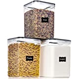 Large Food Storage Containers with Lids Airtight 5.2L /176Oz, for Flour, Sugar, Baking Supply and Dry Food Storage, PantrySta
