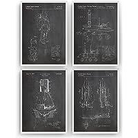 Espacio Exterior Poster de Patente - Conjunto de 4 Impresiones - Outer Space Patent Print Póster Con Diseños Patentes…