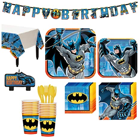 Amazon Batman Superhero Birthday Party Kit Includes Happy