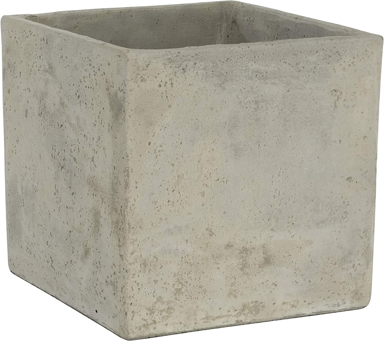 Amazon.com : Classic Home and Garden 3/0935/1 ConSq Natural Cement Square  Planter 8 inch, 8