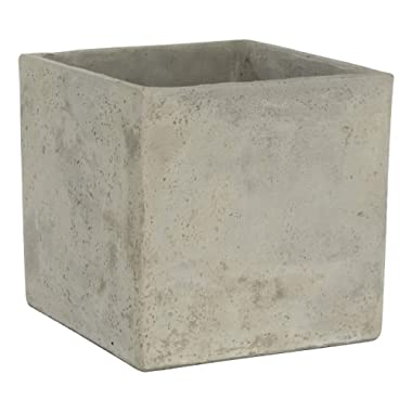 Classic Home and Garden 3/0935/1 ConSq Natural Cement Square Planter 8 inch, 8