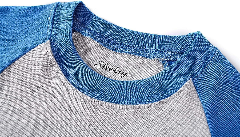 shelry Children Pajamas Cotton Dinosaur Kids Clothes Boys Cartoon Sleepwear Toddler Clothes